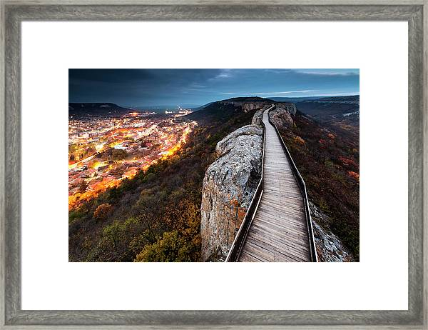 Between Epochs Framed Print