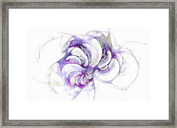 Beyond Abstraction Purple Framed Print