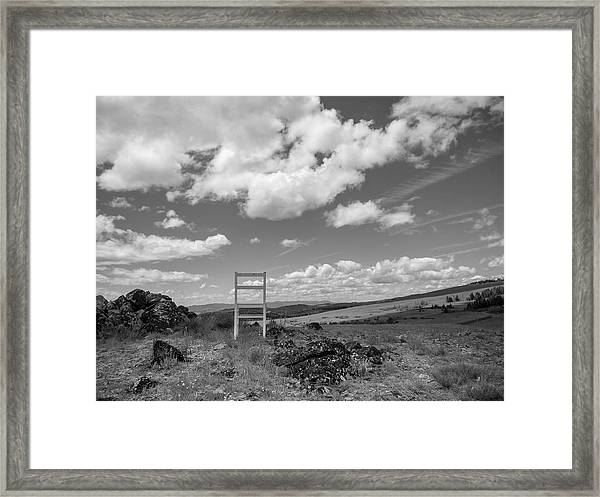 Beyond Here The Chair Project Framed Print