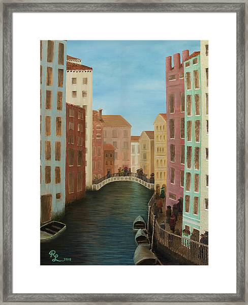 Beyond The Grand Canal Framed Print