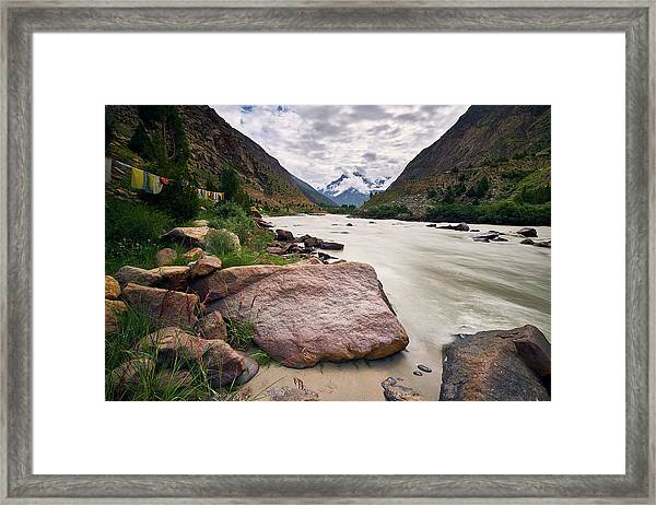 Framed Print featuring the photograph Bhag River by Whitney Goodey