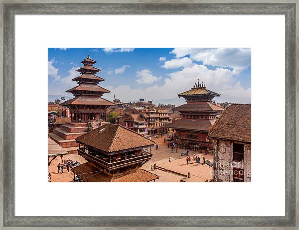 Bhaktapur Is Unesco World Heritage Site Framed Print