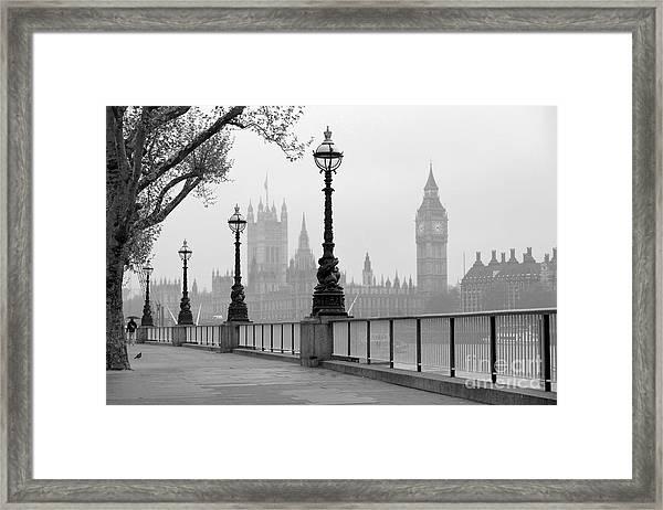 Big Ben & Houses Of Parliament, Black Framed Print by Tkemot