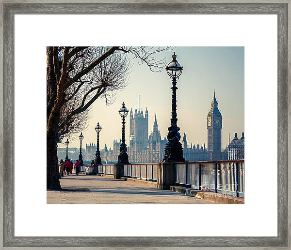 Big Ben And Houses Of Parliament In Framed Print