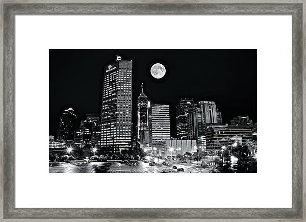 Big Moon Indianapolis 2019 Framed Print