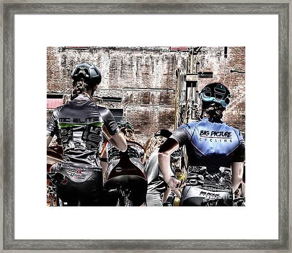 Cycling Big Framed Print by Steven Digman