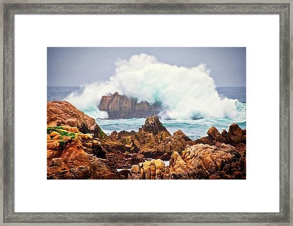 Big Splash, Asilomar State Beach, Pacific Grove, California Framed Print