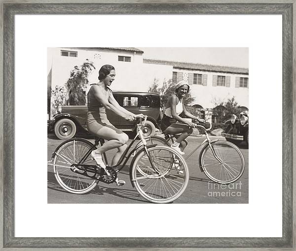 Bike Riding Fun Framed Print