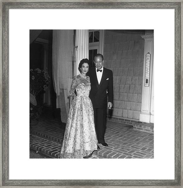 Bill And Babe Framed Print by Slim Aarons