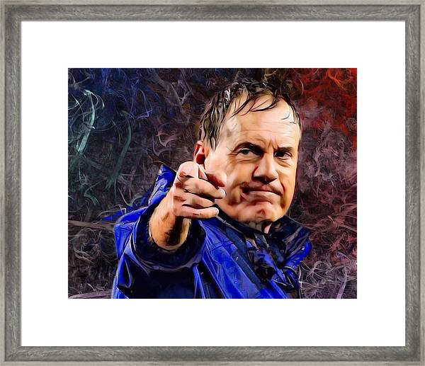 Bill Stephen Belichick Portrait Framed Print