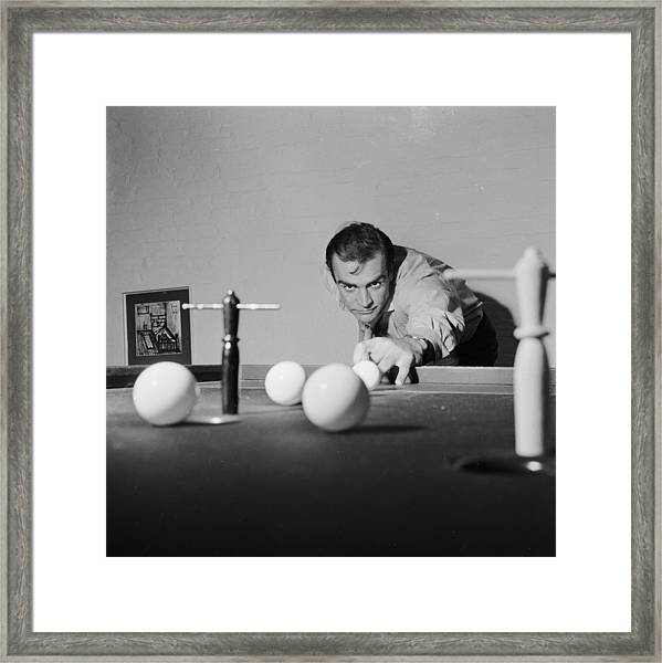 Billiard Bond Framed Print
