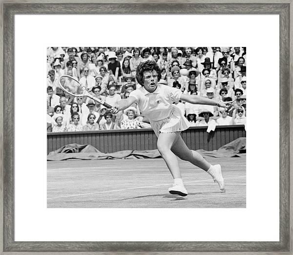 Billie Jean Moffitt Framed Print
