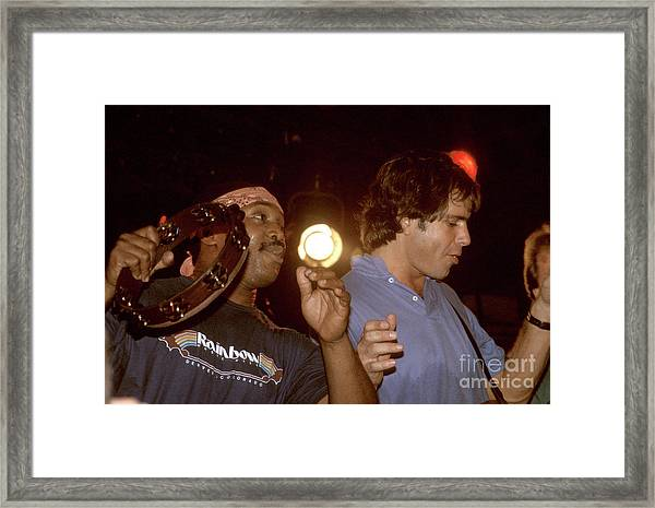 Billy Cobham And Bob Weir Framed Print