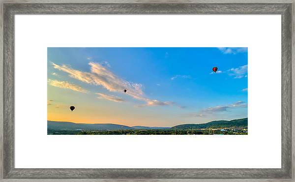 Binghamton Spiedie Festival Air Ballon Launch Framed Print