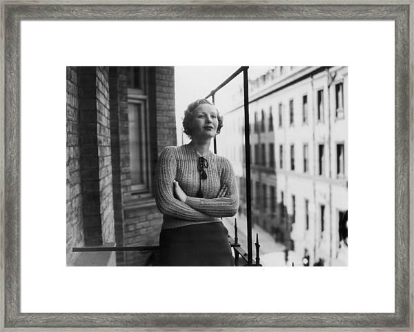 Binnie Barnes Framed Print by Sasha