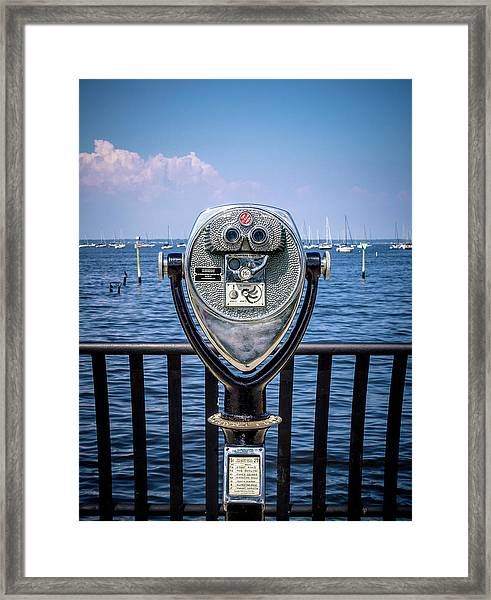 Binocular Viewer Framed Print