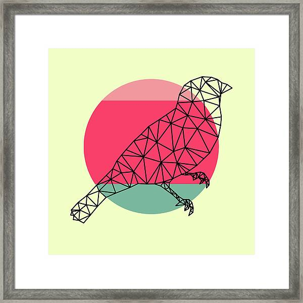 Bird And Sunset Framed Print