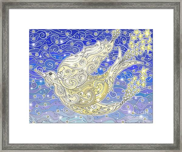 Bird Generating Stars Framed Print