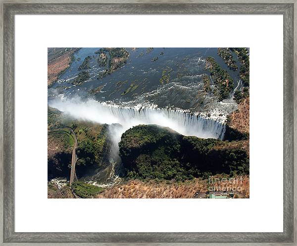 Birds Eye View Of The Victoria Falls Framed Print