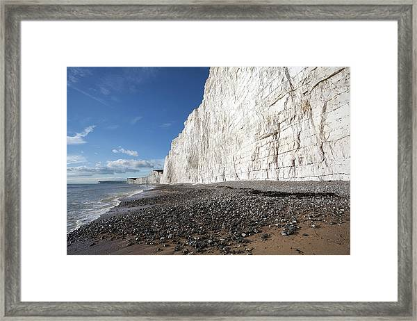 Birling Gap Beach And Seven Sisters Framed Print