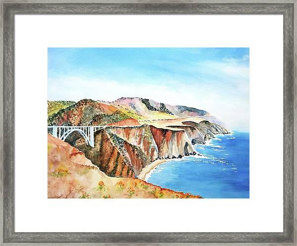 Bixby Bridge 3 Big Sur California Coast Framed Print