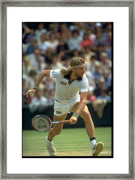 Bjorn Borg Sweden Wimbledon Framed Print