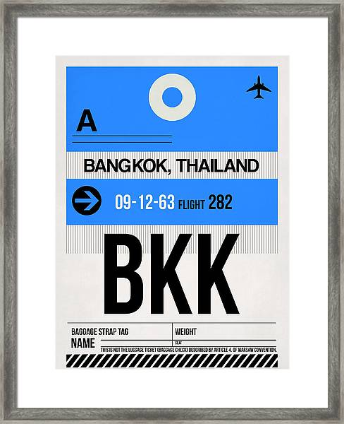 Bkk Bangkok Luggage Tag II Framed Print