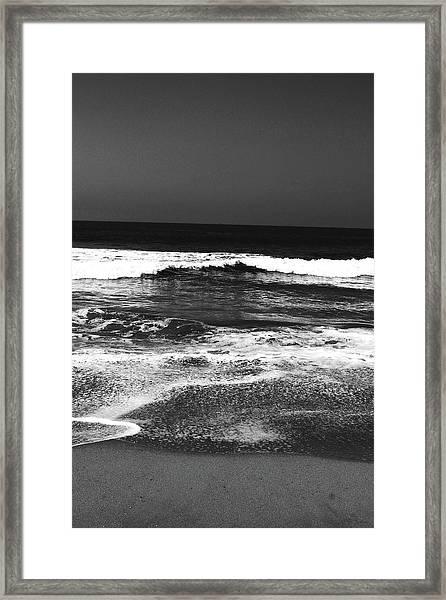 Black And White Beach 7- Art By Linda Woods Framed Print