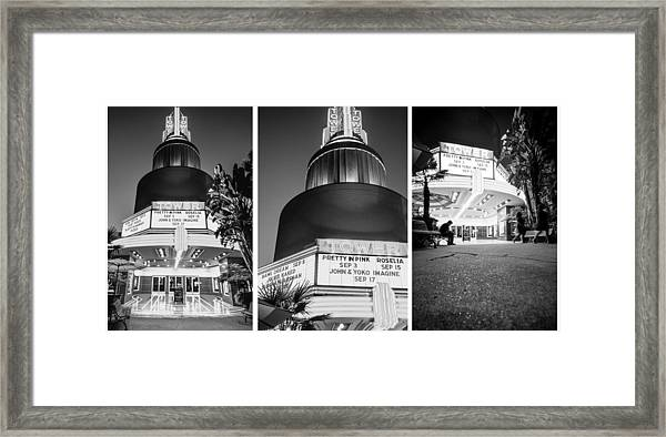 Black And White Triptych- Framed Print