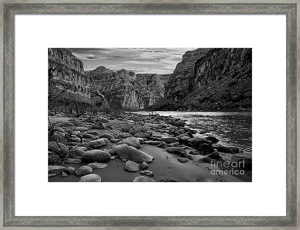 Black And White View Of The Grand Framed Print