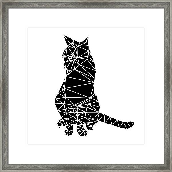 Black Cat Framed Print
