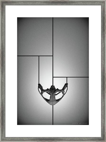 Black Chalice - Abstract Geometric Bone Art Framed Print