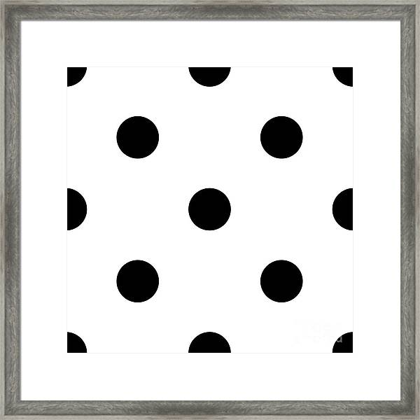Black Dots On A White Background- Ddh610 Framed Print