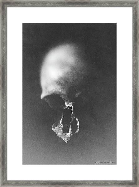 Black Erosion Framed Print