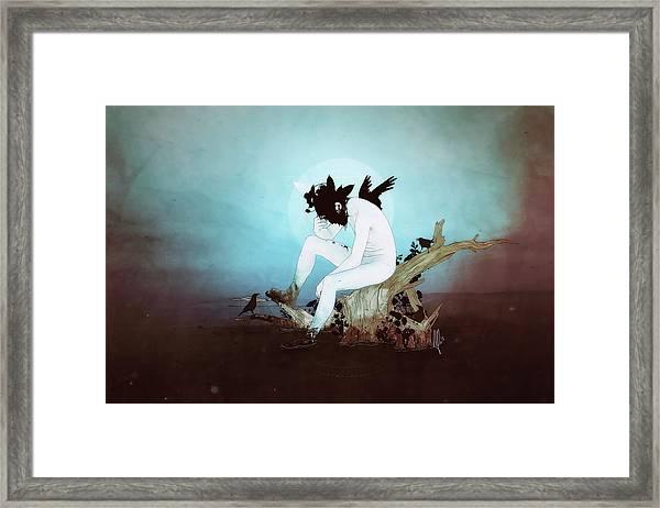 Black Lake Framed Print
