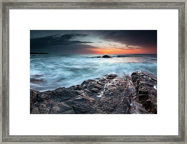 Black Sea Rocks Framed Print
