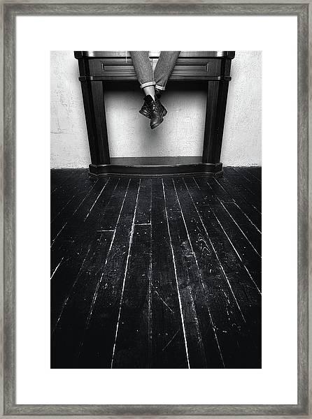 Black Shoes #9397 Framed Print