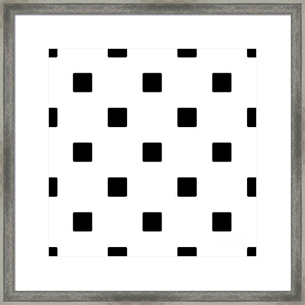 Black Squares On A White Background- Ddh574 Framed Print