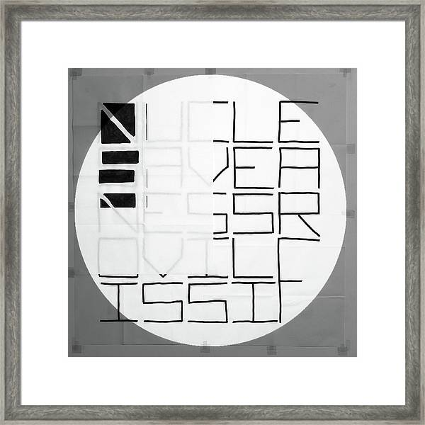 Black To White - Nucle Framed Print