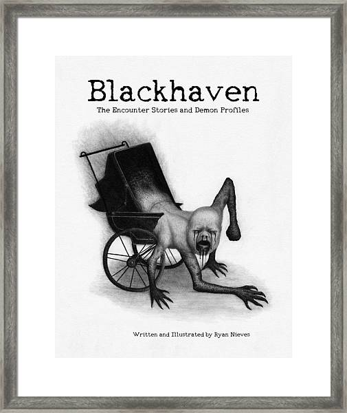 Blackhaven The Encounter Stories And Demon Profiles Bookcover, Shirts, And Other Products Framed Print