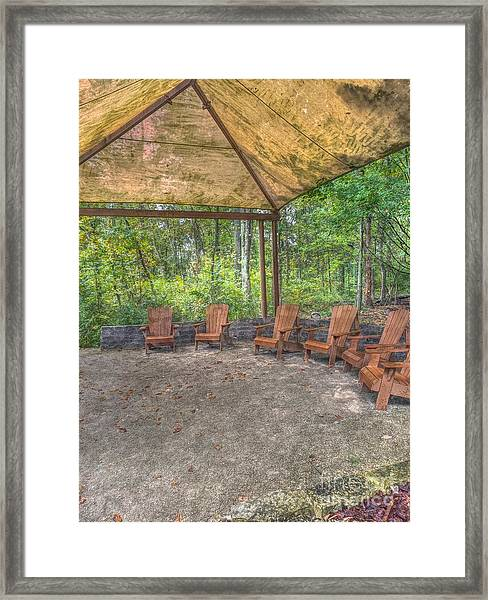 Blacklick Woods - Chairs Framed Print