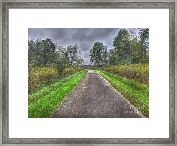 Blacklick Woods Pathway Framed Print