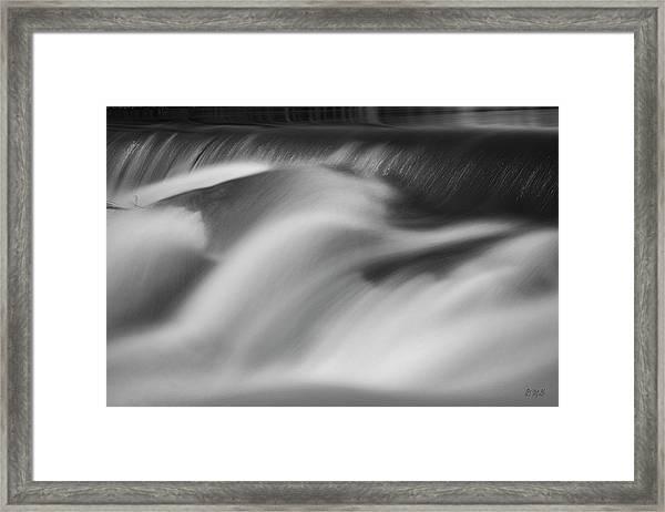 Blackstone River Xxxii Bw Framed Print by David Gordon