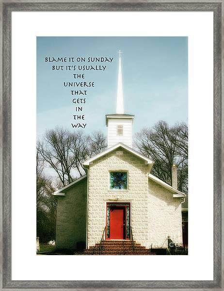 Blame It On Sunday  Framed Print by Steven Digman