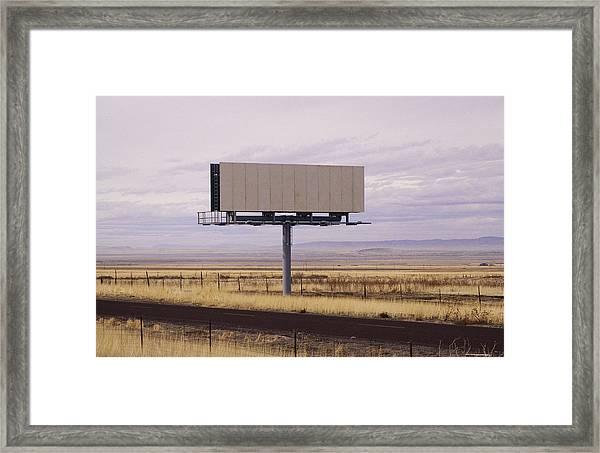 Blank Billboard Framed Print