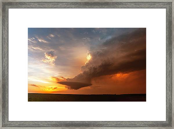 Blazing Framed Print
