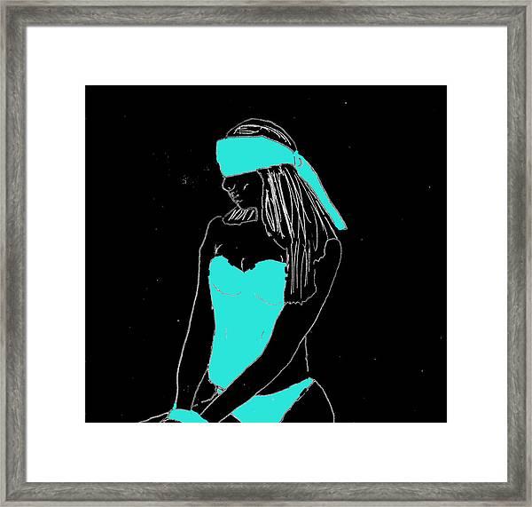 Blindfolded Framed Print