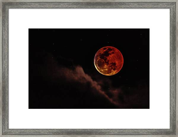 Blood Moon Rising Framed Print
