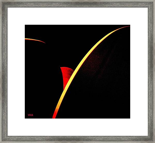 Bloodmoonrise Abstract Framed Print
