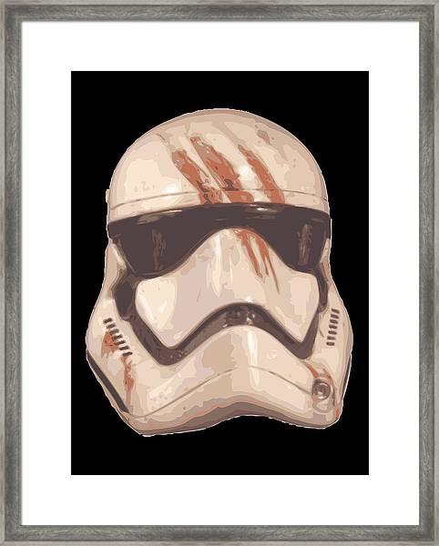 Bloody Helmet Framed Print